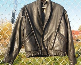 Jacket leather T.42 Vintage 80's Night Rider style