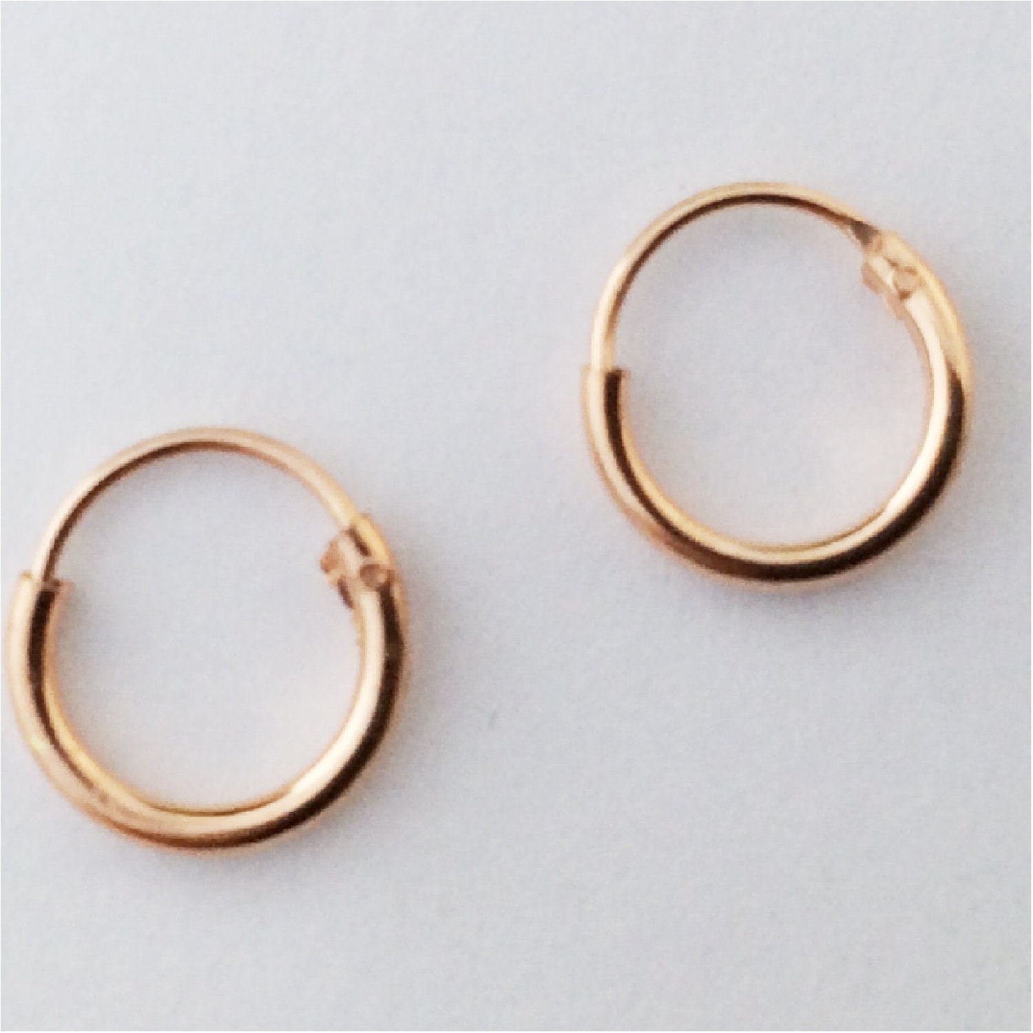 baby hoop earrings gold silver tiny 8mm size for