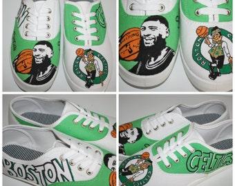 Boston Celtics Custom Shoes - Marcus Smart - Hand painted Custom Shoes