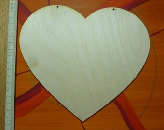Wood heart for decoration at weddings birthdays natural heart to the create