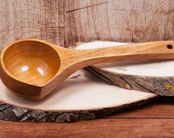 SALE! Wooden ladle, Deep spoon, Handmade wooden scoop, Rustic kitchen, Wooden cooking spoon, wooden spoons, kitchen accesories, Big Spoon