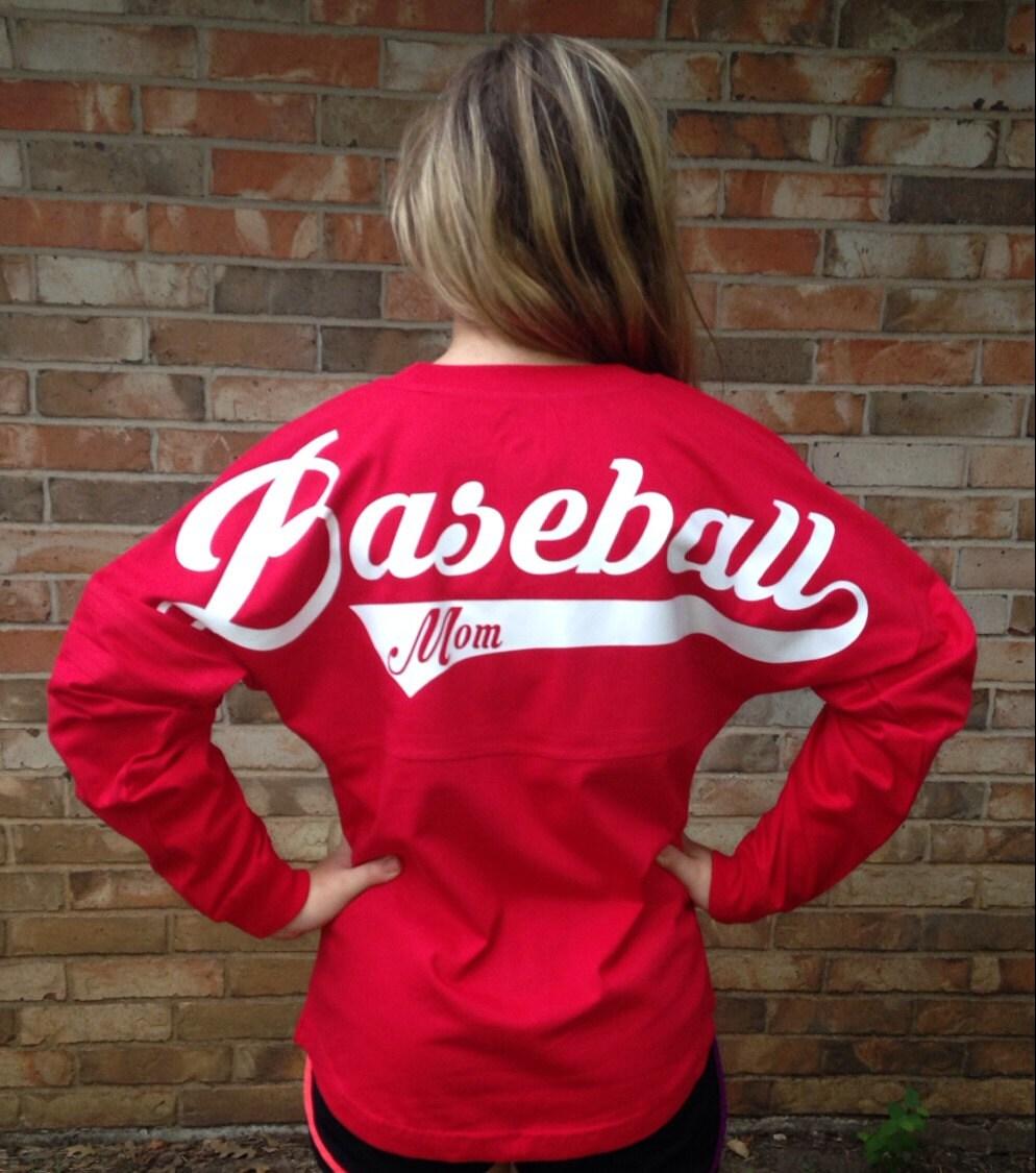 Custom baseball mom jersey you choose the color by for Baseball jersey t shirt custom