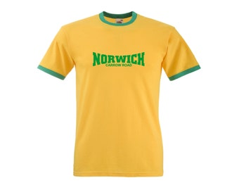 Norwich City FC Carrow Road Retro Football Team T-Shirt - All Sizes Available