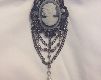 Gothic Cameo Brooch