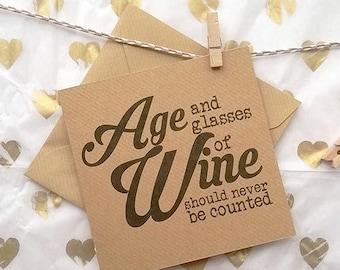 Age & Wine - Greetings Card