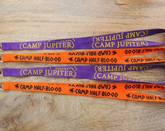 GEEKY FANDOM LANYARDS!  Camp Half-Blood or Camp Jupiter - whose side are you on??