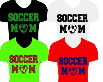 Glitter Soccer Mom Heat Transfer, Soccer Mom glitter iron-on, soccer heat transfer, soccer iron on