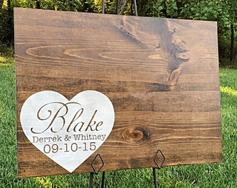 Rustic Wedding Guestbook, Personalized Wedding Guestbook, Rustic Wedding Decor, Guestbook Alternative, Wood Guestbook