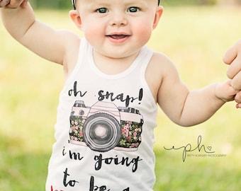 Big Sister Shirt Oh Snap I'm the Big Sister Shirt Sibling Shirts Sister Shirt Pregnancy Announcement Shirt Baby Announcement Shirt