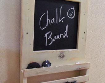 Key Holder, Chalk Board, Hallway Shelf, Chalk Board Shelf, Mail Holder, Hallway Organizer