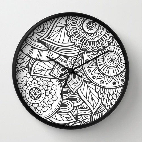 mandala clock cool mandala clock modern clock the mandala. Black Bedroom Furniture Sets. Home Design Ideas