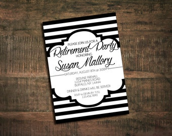 Black and White Party Invitation - Printable
