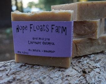 Lavender Oatmeal GOAT MILK soap - All Natural, Handmade