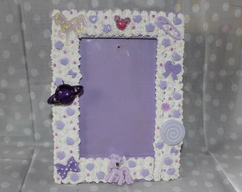 "Lavender Decoden  4""x6"" Photo Frame"