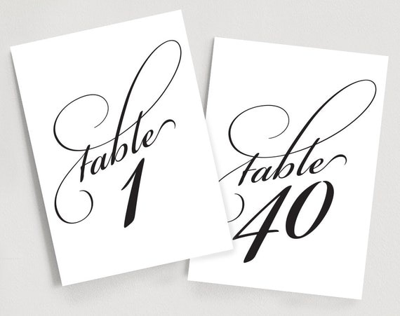 Superb image regarding printable table number