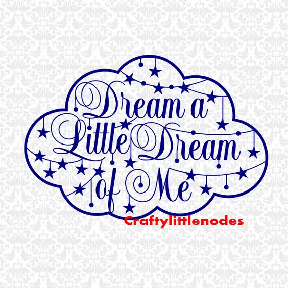 Intricate Dream A Little Dream Of Me SVG STUDIO Ai EPS Scalable Vector Instant Download Commercial Use Cutting File Cricut Silhouette