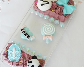 "iPhone 5/s Chocolate ""Half Deco"" Case"