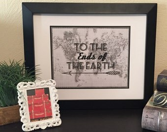 To The Ends of The Earth Map Print