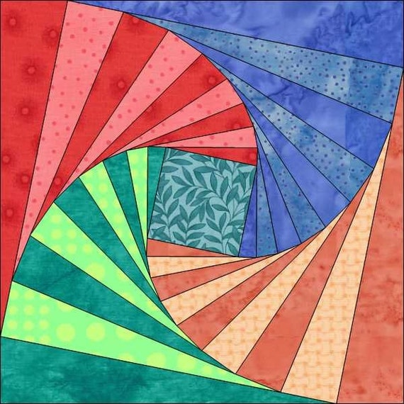 Quilt Patterns With 6 Inch Squares : Twisted Logs Pattern 6 Inch Block Instant Download Paper