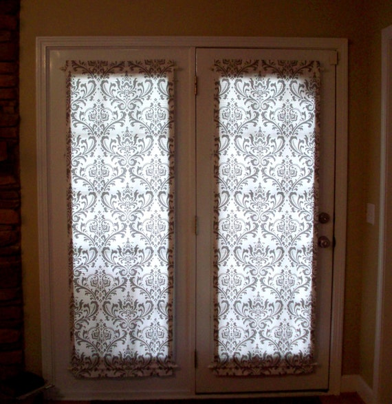 French door panels custom rod pocket front foyer entry door panels
