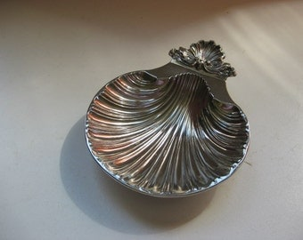 English vintage silver plated soap dish.