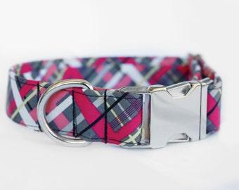 Nordika Tartan Collar | Dog Collar | Pet Collar | Male Dog Collar | Female Dog Collar | Fabric Dog Collar | Large Dog Collar