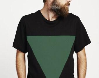 mens Tshirt / black Tshirt / mens top / organic mens tshirt / organic cotton tshirt  / mens black top / fathers day gift