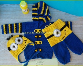 Onesie for babies to crochet inspired Minions