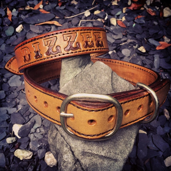 Bespoke Leather Dog Collar
