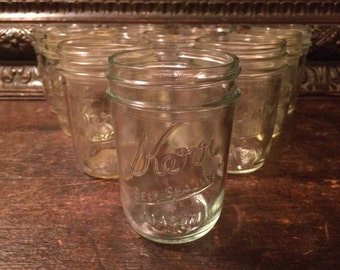Kerr Self-Sealing Mason Jars Lot of 10 Count Vintage 6 OZ