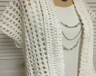 Hand Crocheted Summer Cotton Shrug