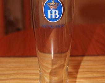 HOFTBRAU MUNCHEN 0.5 LITER Pilsner Glass