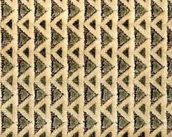 POLLACK MOSAIC Plush Cut Velvet Art Deco Nouveau UPHOLSTERY Fabric 5 Yards Herb Green