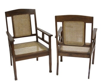Pair Of British Colonial Armchairs, Colonial Chairs, Cane Chairs, Indian  Chairs, Antique