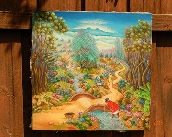 Haitian Painting by AC Stevenson. 24x24