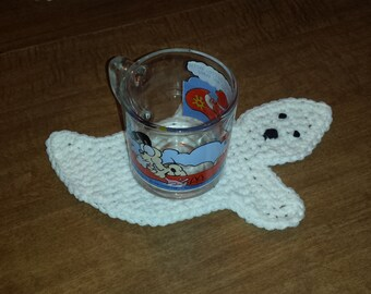 Crocheted Ghost Coasters - Set of 4