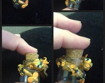 Mini bottles with dragon