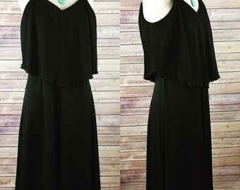 Vintage Black speghetti strap dress 9/10 LBD