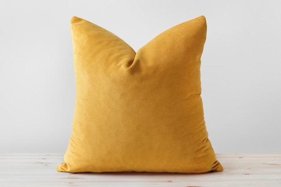 mustard velvet pillow cover mustard yellow velvet cushion. Black Bedroom Furniture Sets. Home Design Ideas