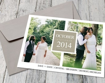 Modern Photo Collage Save The Date (Printable)