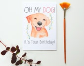 Dog Lover's Birthday Card - OH MY DOG! It's Your Birthday Card
