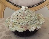 Cupcake Pincushion Pincushion Crocheted Cupcake Frosting play food stuffed crochet cupcake amigurumi needle keeper sewing @MystifyGifts love