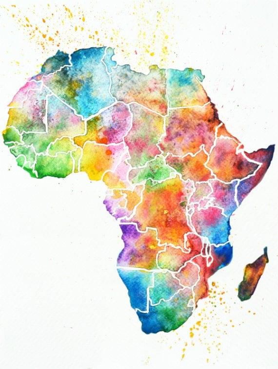 africa map art