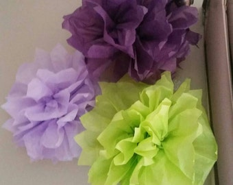 Tissue Paper Pom Poms (8 included in price)