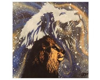 Lion Spirit Print