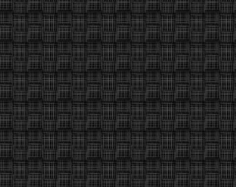 Black Crosshatch- 100% Cotton