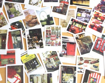 London Travel Postcards thank you cards, pack of 40 mini cards