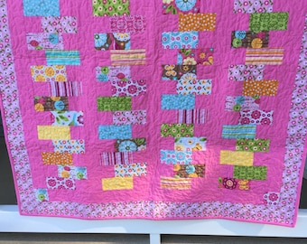 Price reduced! Pink baby quilt