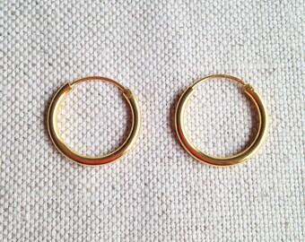 19 mm Gold Filled Hoop Earrings - Gold Hoop Earrings - Tiny Hoop Earrings - Hoop Earrings - Small Hoop Earring -  Gold Hoop Tiny
