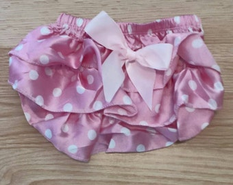 Ruffled bum diaper cover - bubblegum pink